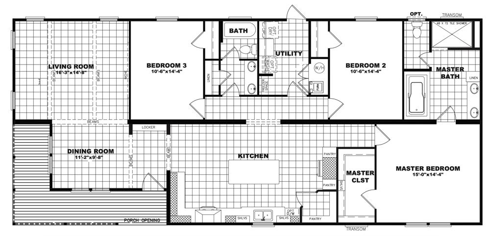 Clayton Schult - Lily Mae 32X68 floorplan