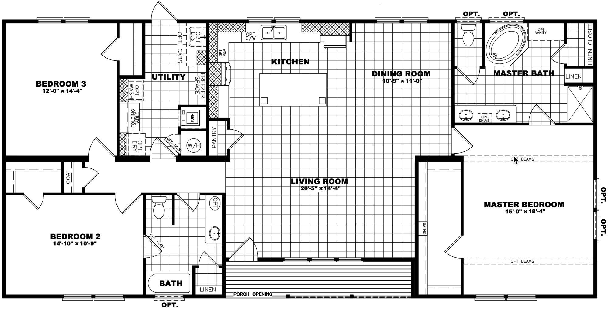 Clayton Schult - New Orleans 32X64 floorplan