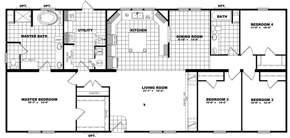 Clayton Schult - Newport 32X68 floorplan