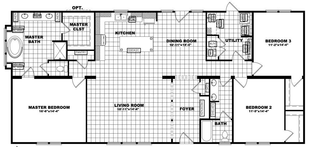 Clayton Schult - St. Augustine 32X66 floorplan