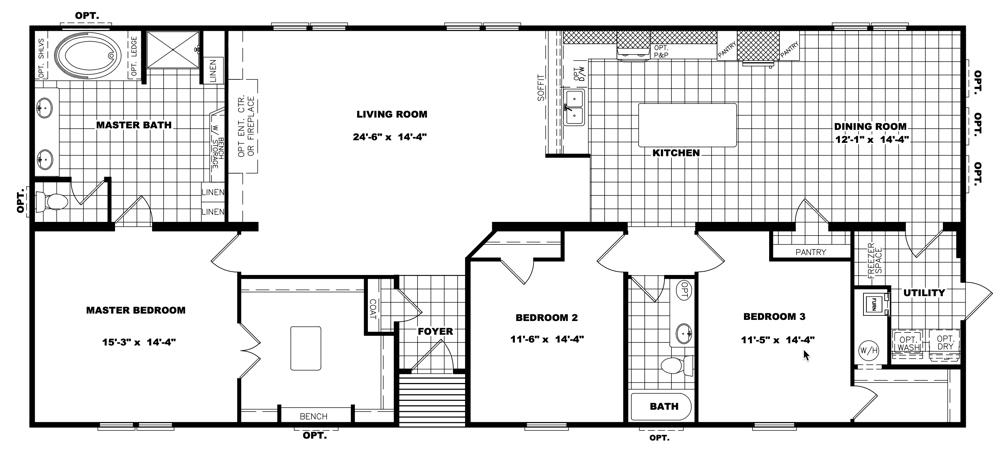 Clayton Schult - Tyler 32X70 floorplan