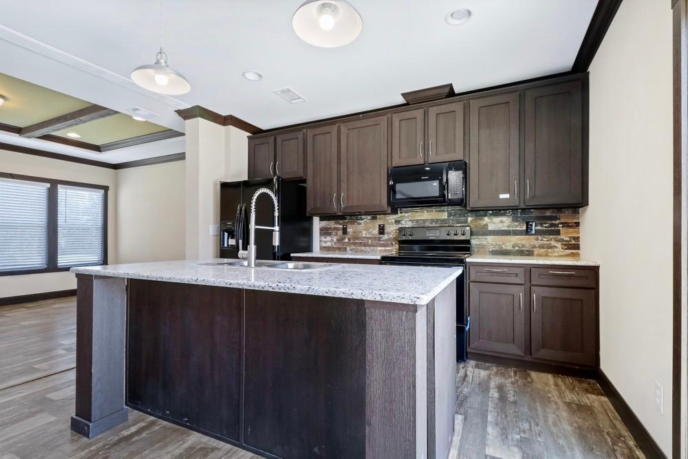 Patriot mobile home model Revere kitchen view 5
