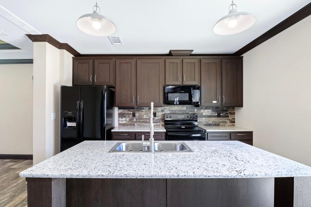 Patriot mobile home model Revere kitchen view 6