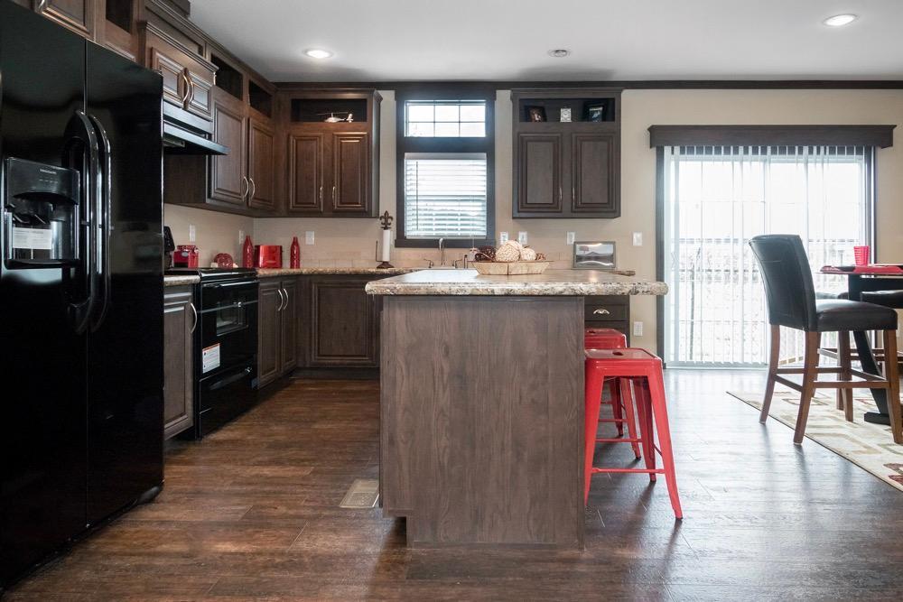 Schult mobile home model Richmond kitchen view 4