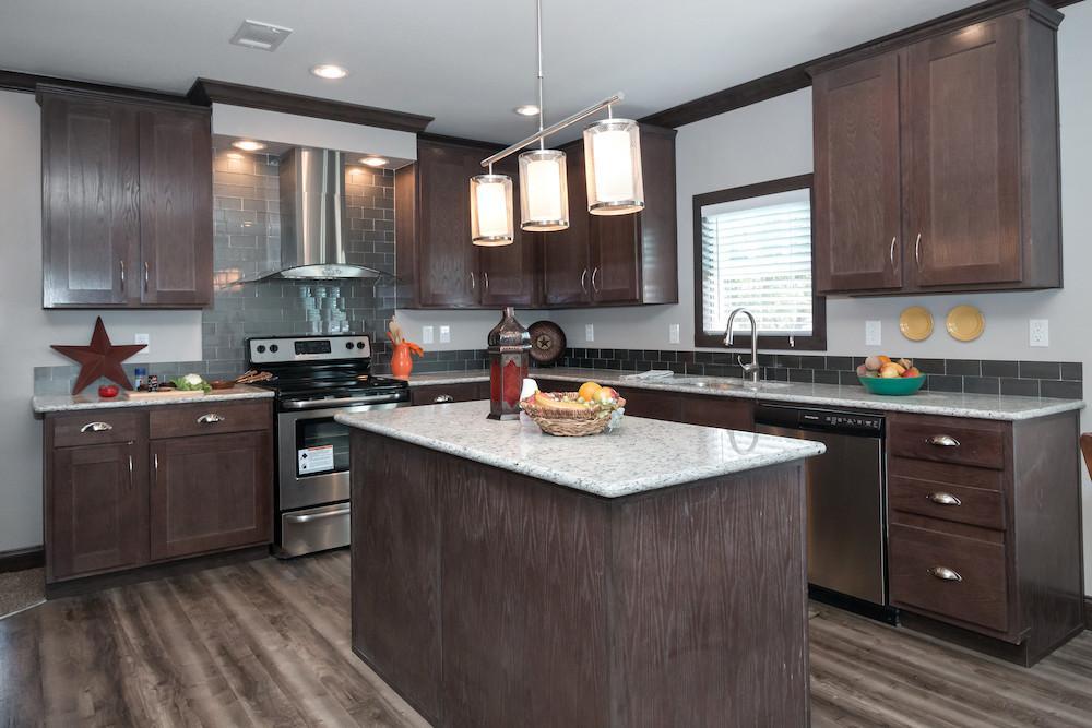 Schult mobile home model Saratoga kitchen view 09
