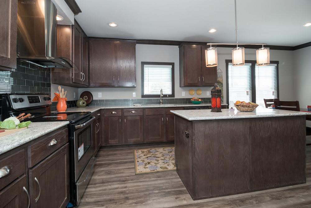 Schult mobile home model Saratoga kitchen view 11
