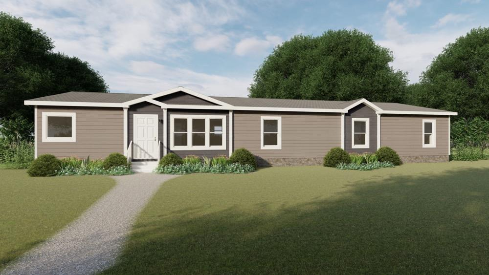 Schult mobile home model Savannah exterior view day rendering