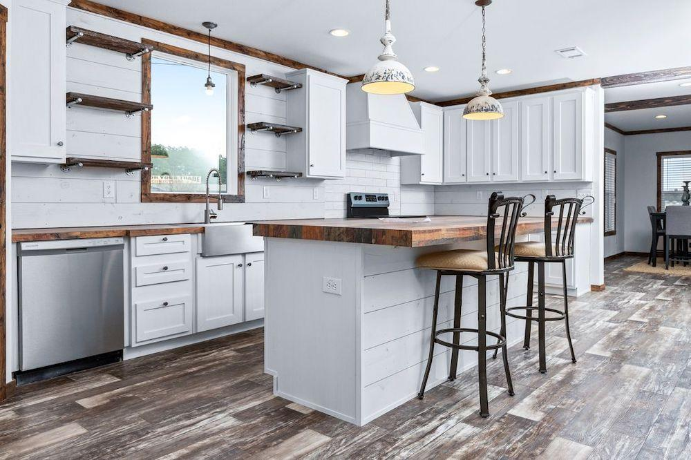 Schult mobile home models Lily Mae kitchen view 6