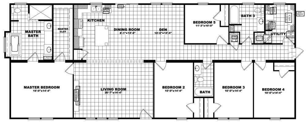 Clayton Patriot - The Hamilton 32X74 floorplan