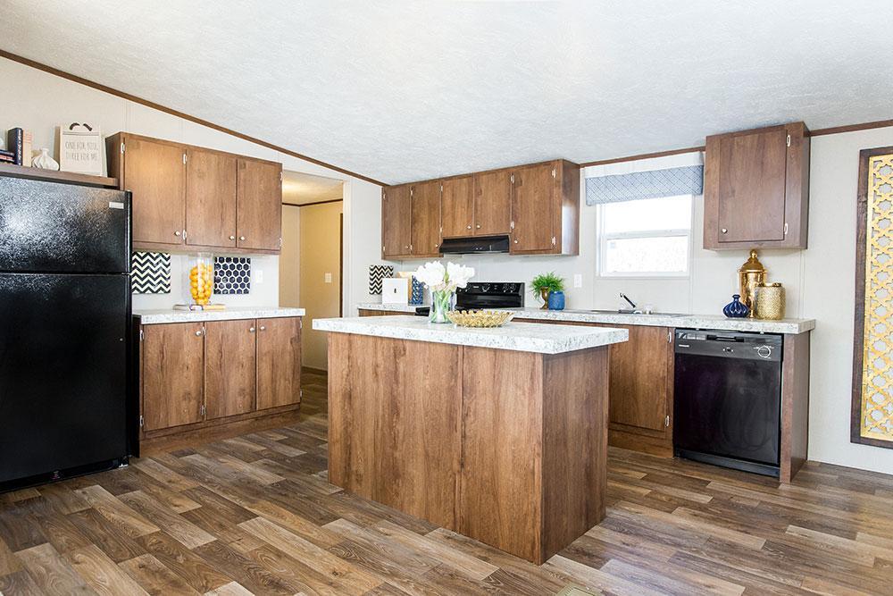 Tru Homes Wonder model mobile home kitchen