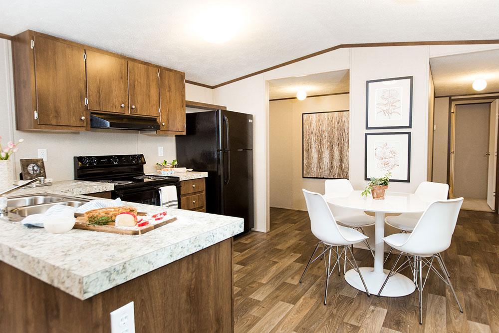 Tru Homes Bliss model mobile home kitchen
