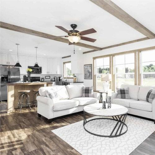 Clayton Annie model mobile home living room