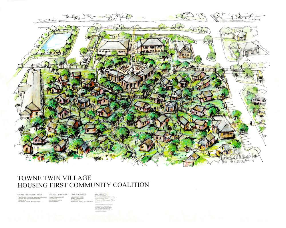 Towne Twin Village aerial-view concept